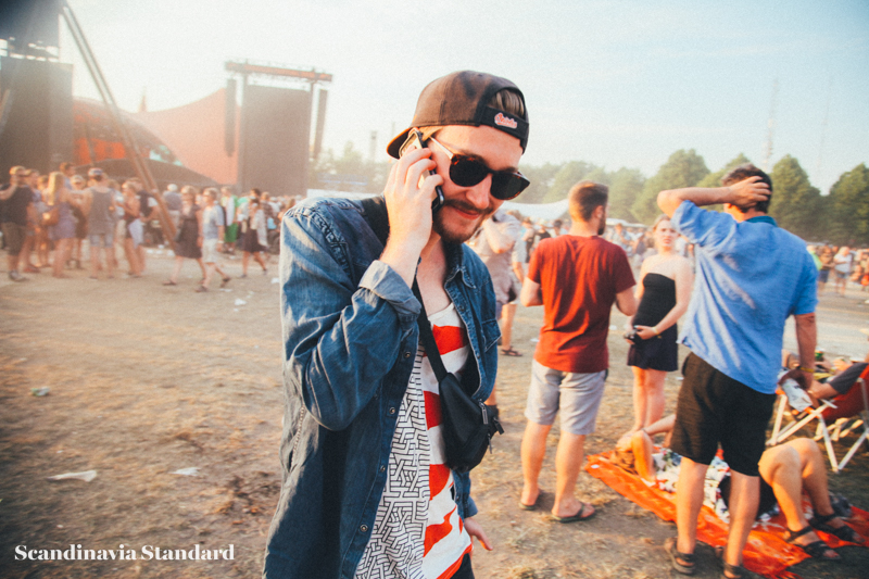Roskilde Festival Cute Guy on Phone | Scandinavia Standard
