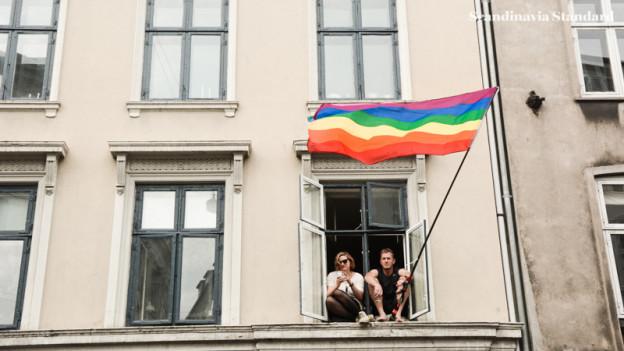 Copenhagen Pride Parade 2015 - Flag + Sitting in Window | Scandinavia Standard