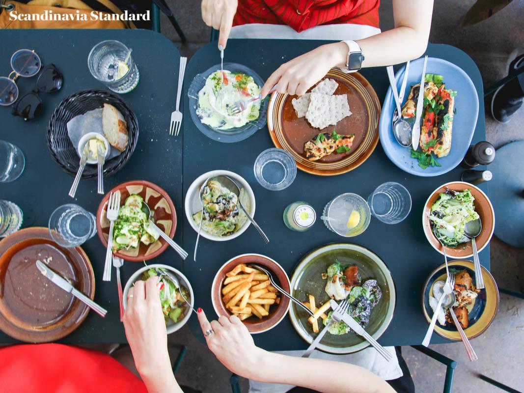 Oaxen Slip Shared Meal Flatlay Stockholm | Scandinavia Standard
