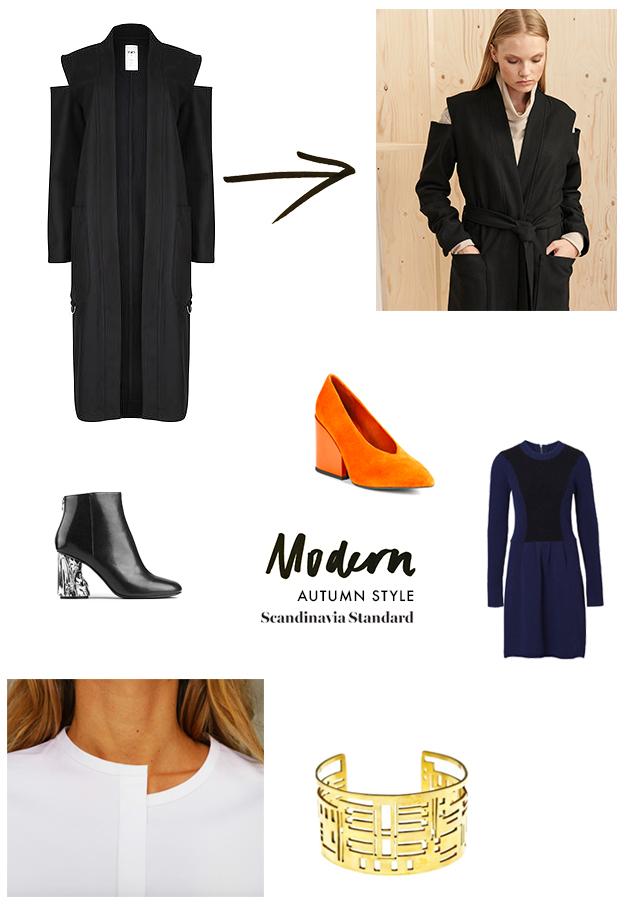Autum Coat Modern Infographic | Scandinavia Standard