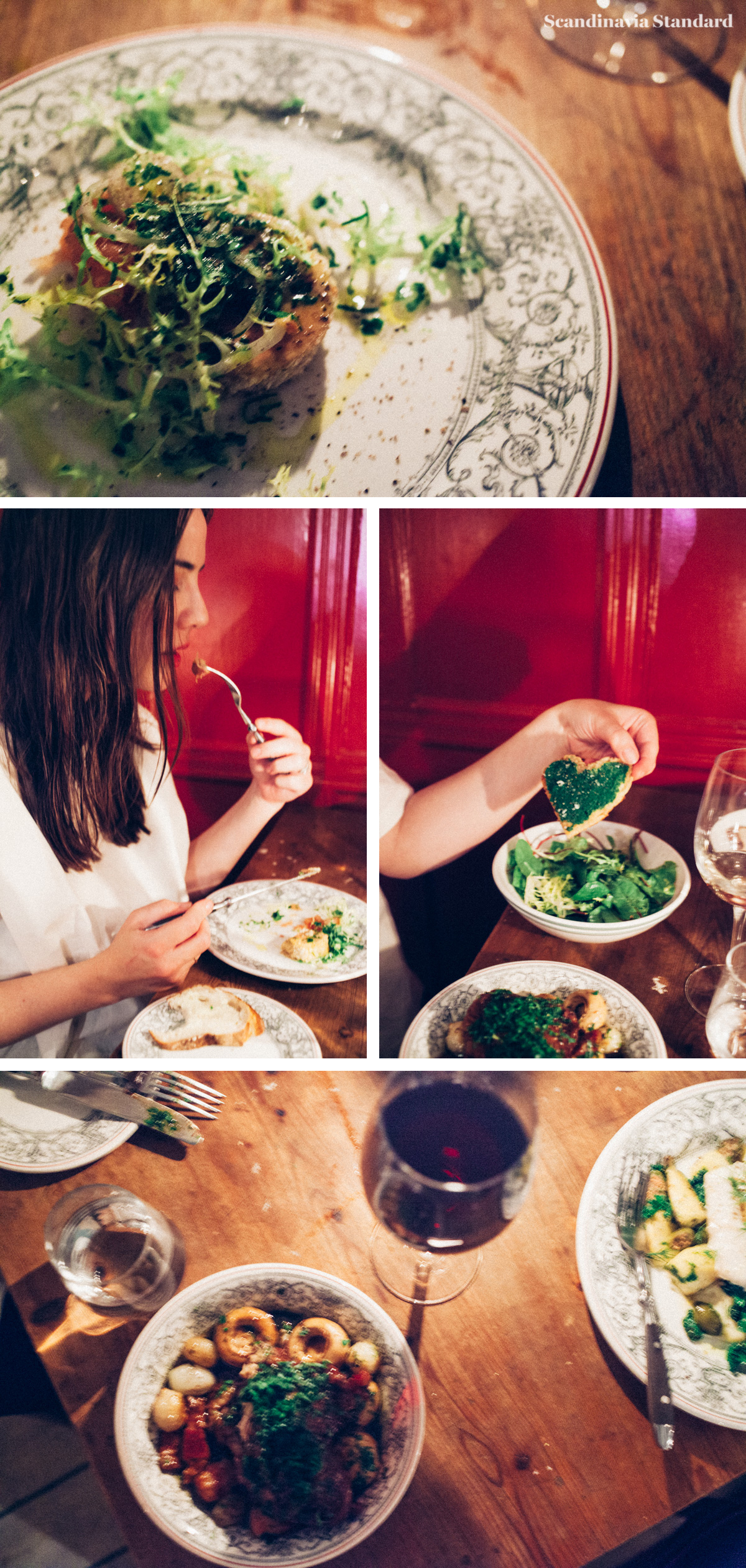 Mains - Baked cod and Coq au Vin at Je t'aime | Scandinavia Standard