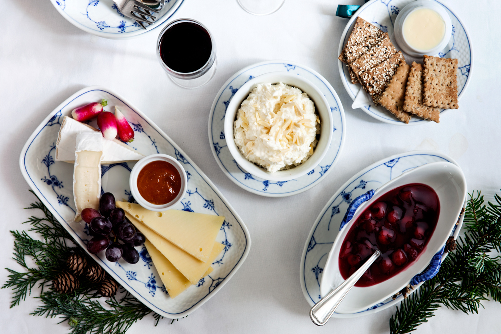 Danish Christmast Lunch Julefrokost - Dessert - Cheese and Rice Pudding Ris a l'amande | Scandinavia Standard