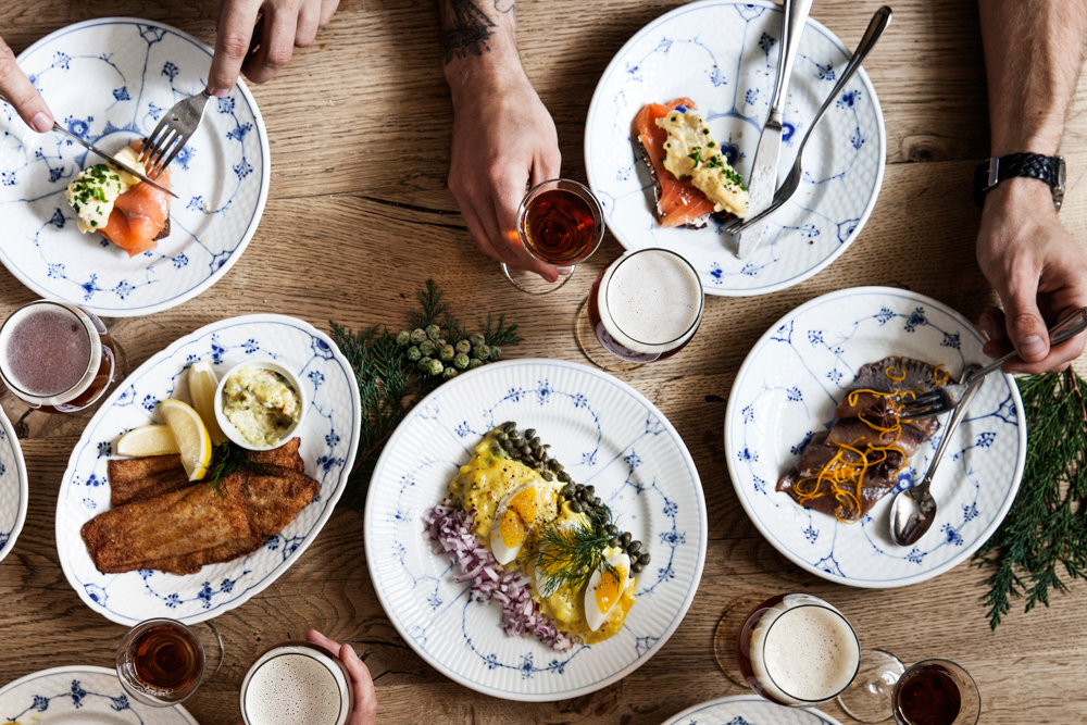 Danish Christmast Lunch Julefrokost - First Course Fish | Scandinavia Standard
