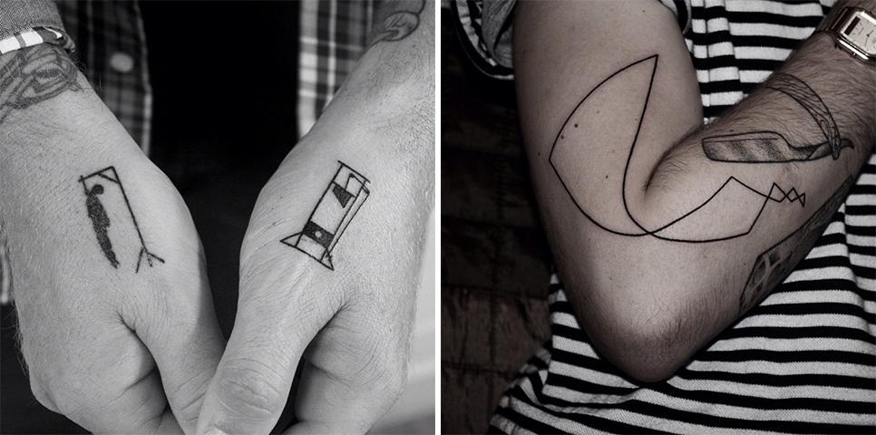 Minimalist tattoos artists you 39 ll love for Minimalist tattoo nyc