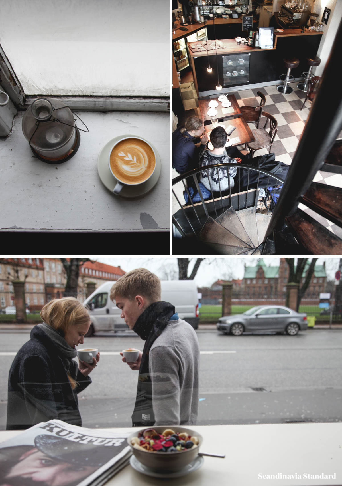 Best Coffee Shops - Cafe Det Vide Hus Collage | Scandinavia Standard