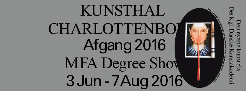 MFA DEGREE SHOW - JUNE 2016- COPENHAGEN