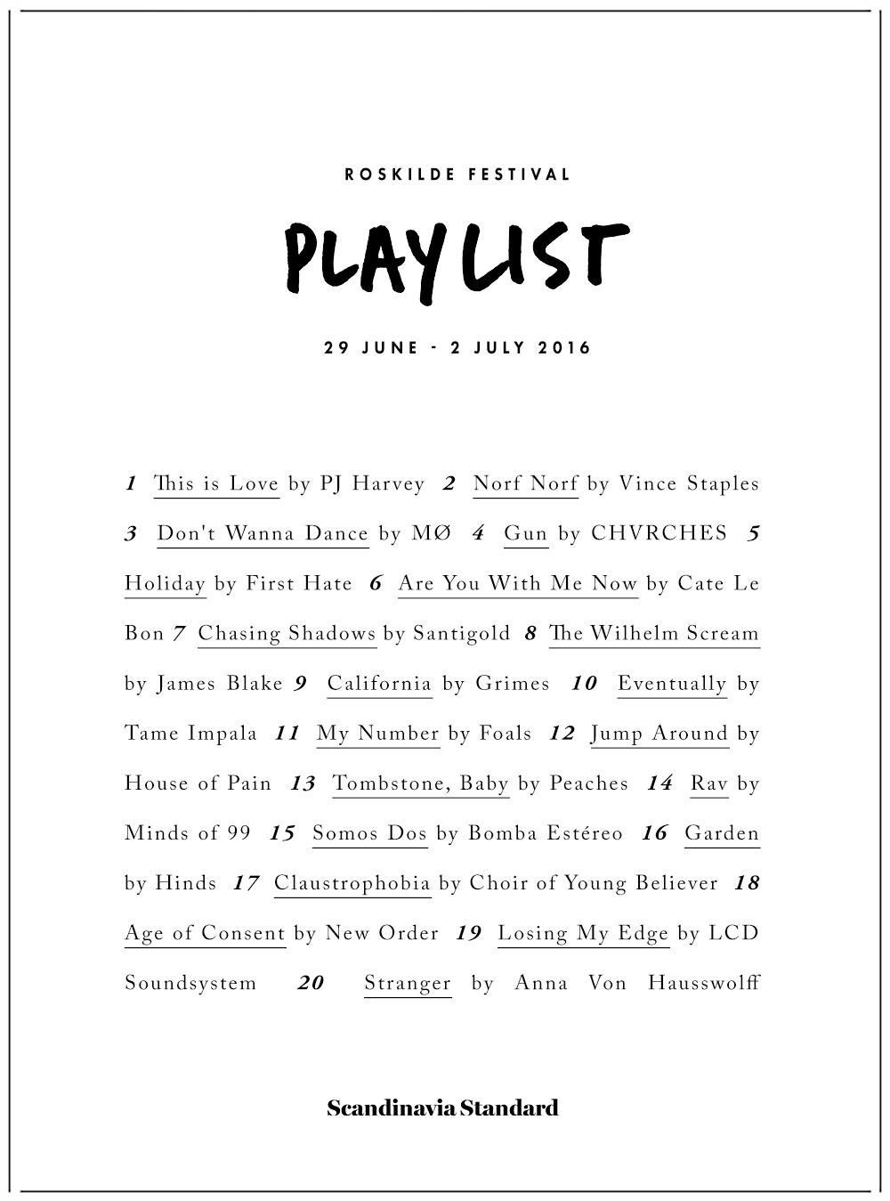 Roskilde Festival Playlist 2016 Party in a Post   Scandinavia Standard
