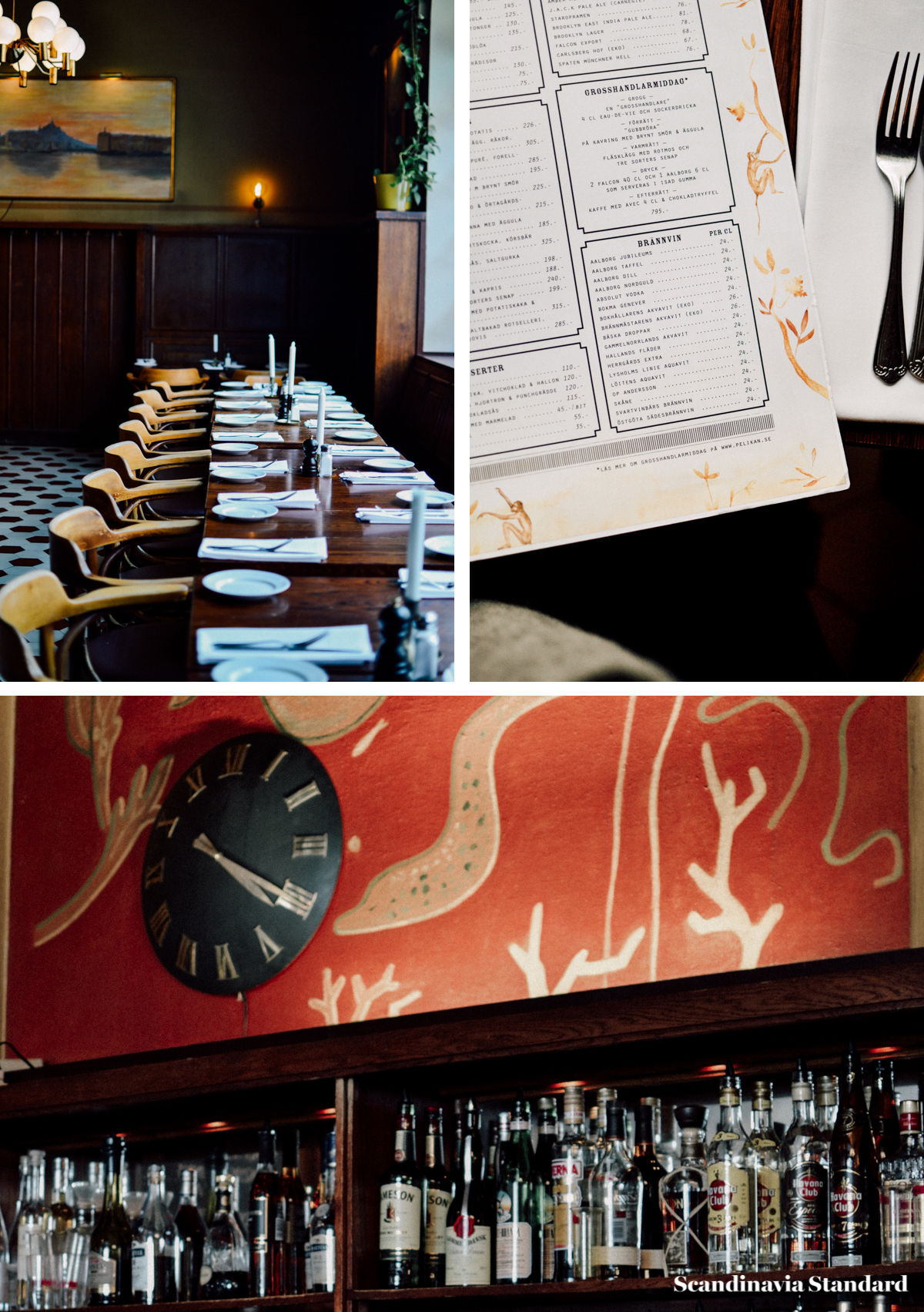 Knausgard Eating in Stockholm - Pelikan Collage I Scandinavia Standard