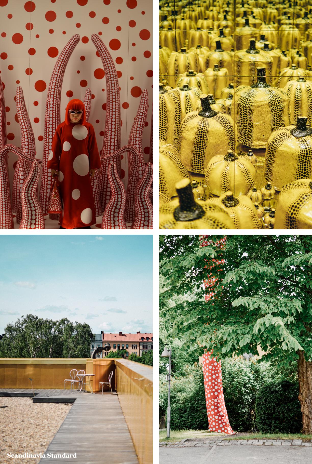 Yayoi Kusama %22In Infinity%22 Collage - ScandiSix Exhibitions I Scandinavia Standard