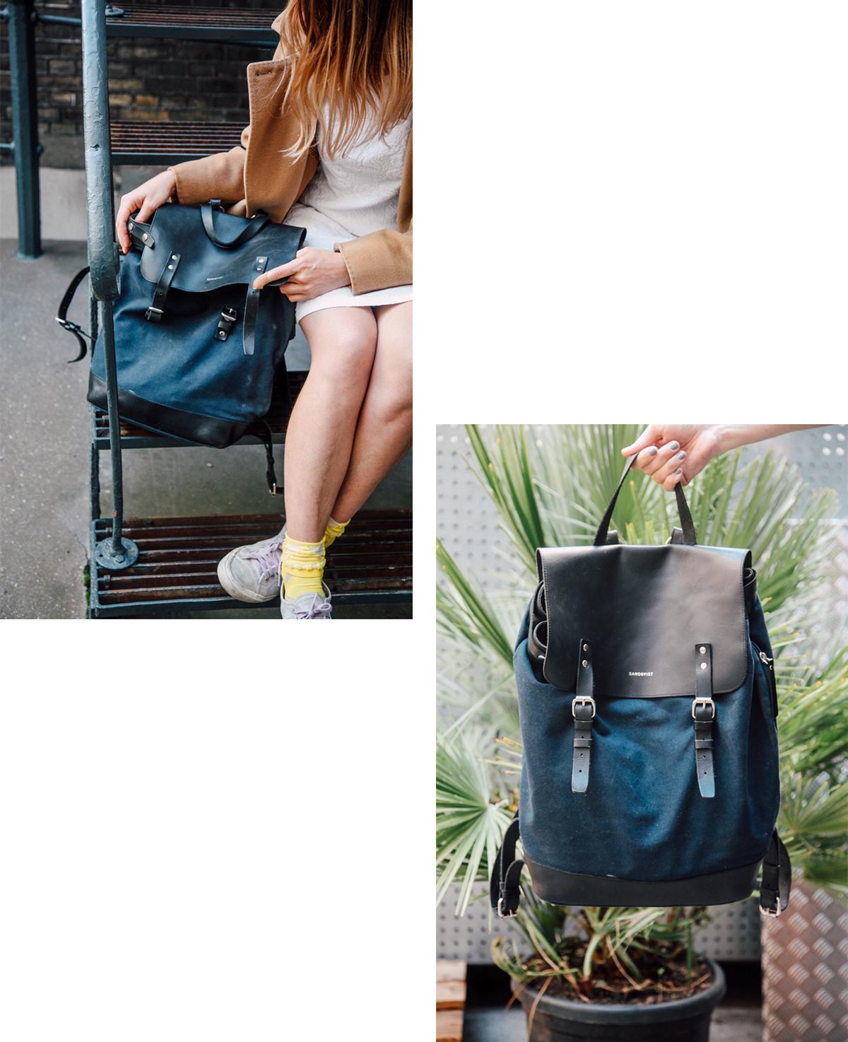 Sandqvist Collage Blue Backpack Navy