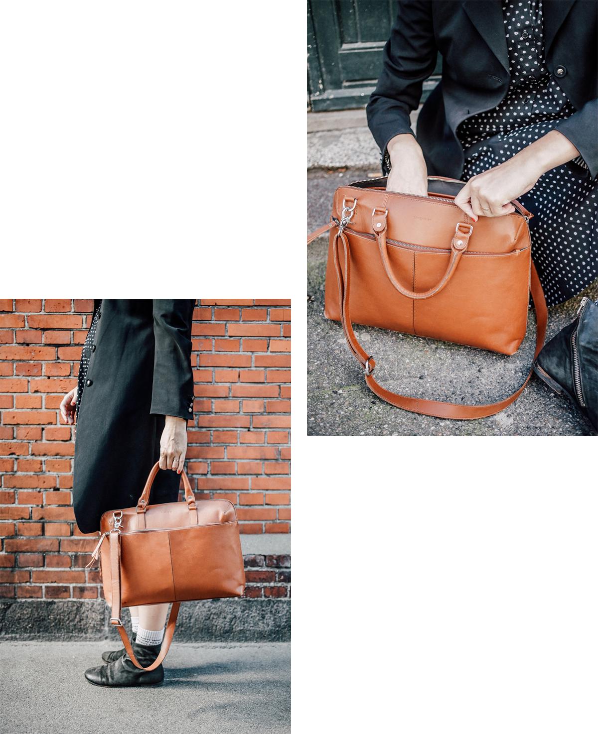 Sandqvist Collage Leather Briefcase