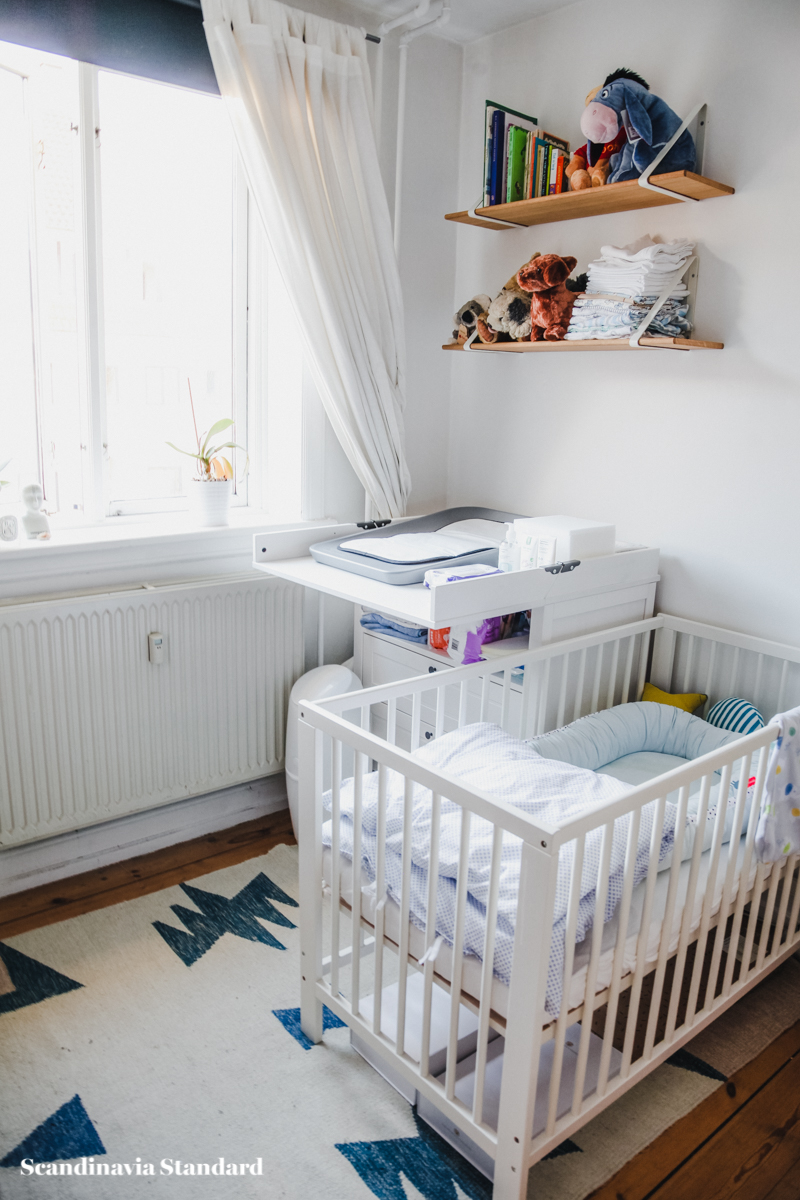 create a baby space in a small one bedroom apartment