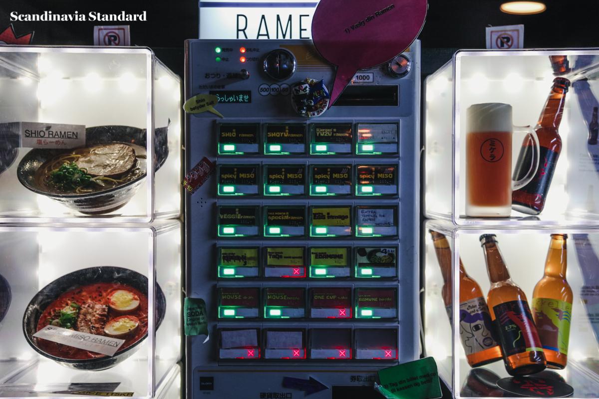 Ramen To Birru Vending Machine