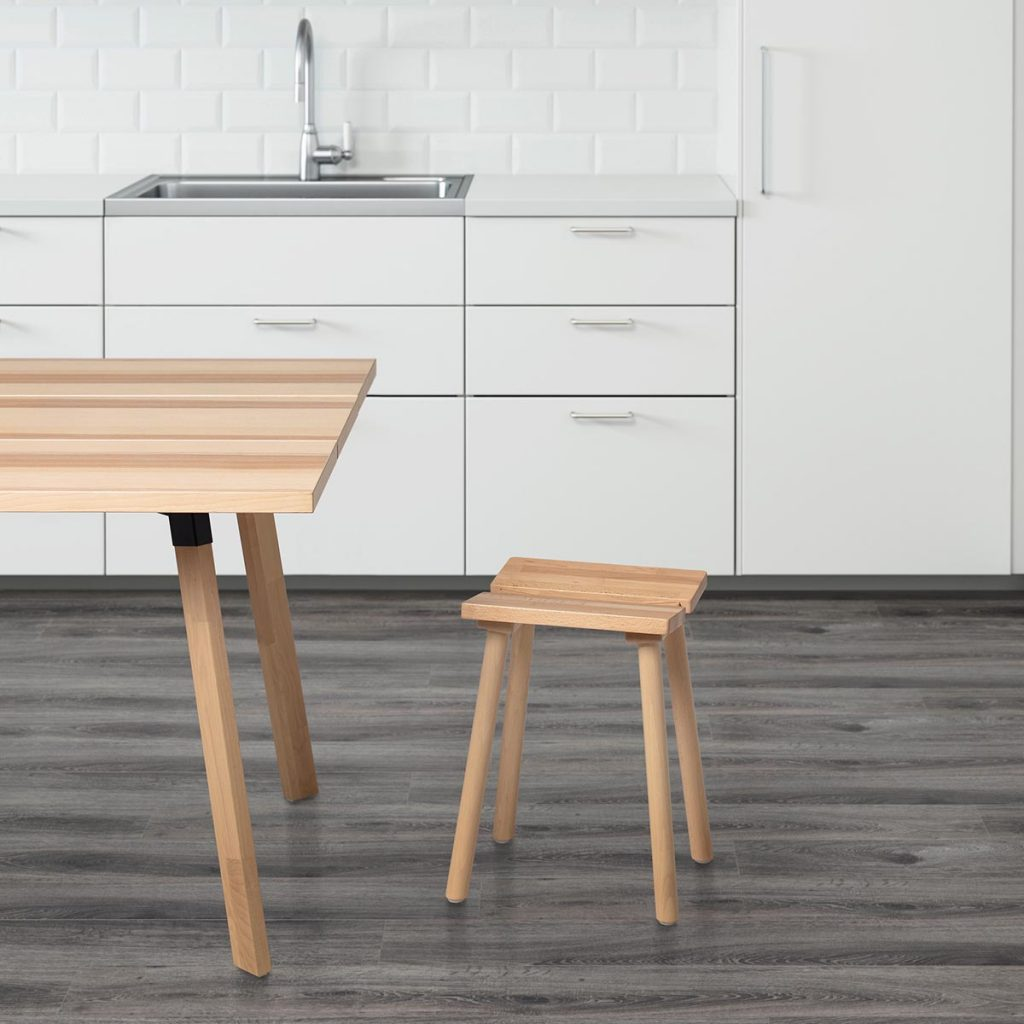 ypperlig stool beech 2 ikea x hay. Black Bedroom Furniture Sets. Home Design Ideas
