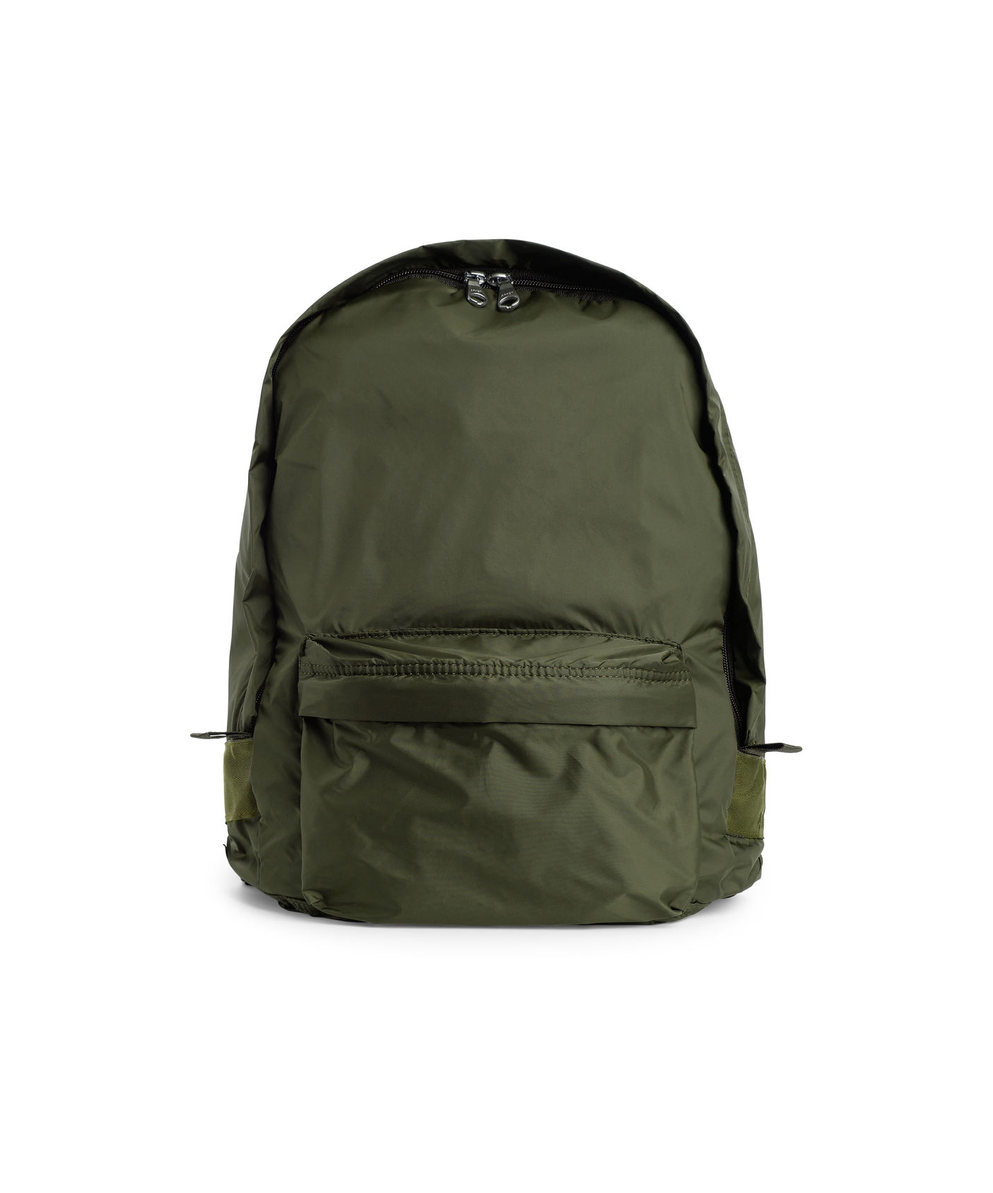 d0f49f448e ... this ARKET backpack actually folds into a small pocket