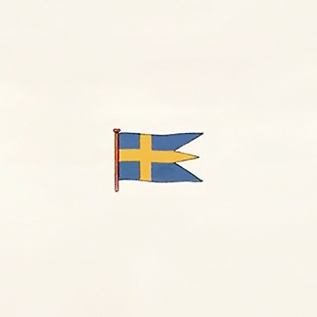 Denmark or Finland Stained Glass National Flag of Sweden